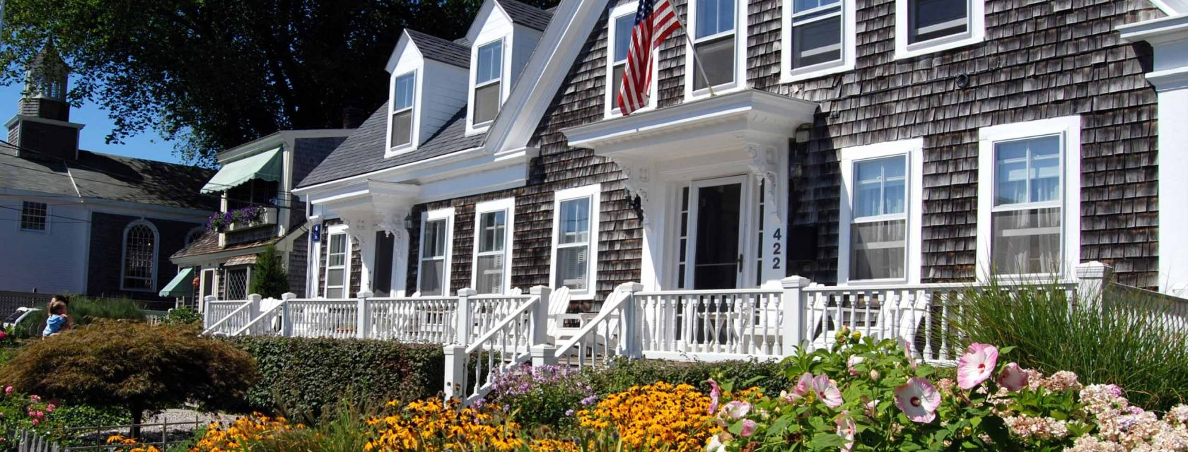 A typical Cape Cod colonial home in the heart of Provincetown MA
